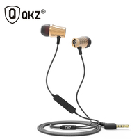 Earphone Metal Headset Earbud Universal QKZ X9 Earphone Noise Isolating Wired 3 5mm In Ear For