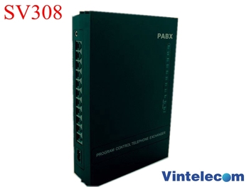Analog telephone switch PABX / PBX Phone System SV308 (3 lines and 8 extensions) - hot sell
