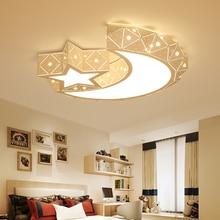Satr/moon Modern led ceiling chandelier lights for bedroom Children kids room AC85-265V lustre para sala fixtures