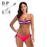 2018 Sexy Cross Brazilian Bikinis Women Swimwear Swimsuit Push Up Bikini Set Halter Top Beach Bathing