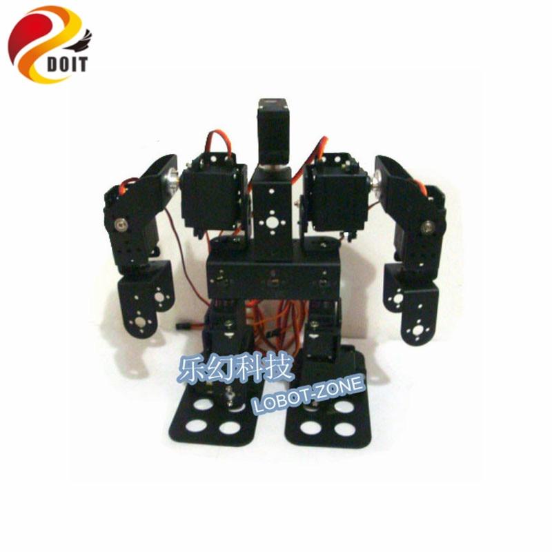 DOIT 9 DOF Humanoid Walking Robot / Aluminium Alloy Servo Bracket för Control / Robot Del Robot Arm / Hand / Manipulator
