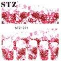 Stz 1 hoja mujeres bastante rosada de la flor de Rose pegatinas etiquetas de DIY de transferencia de agua tatuajes arte del clavo etiqueta completa STZ271