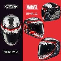 HJC RPHA 11 carbon fiber venom helmet MARVEL venom second generation spider black panther helmet iron man death waiter