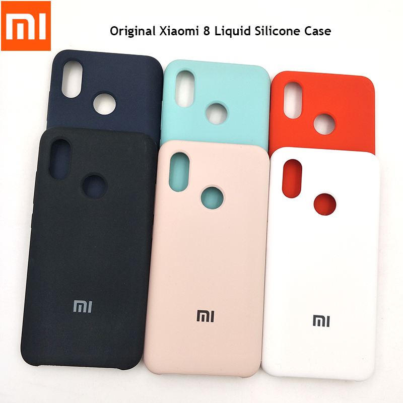 Phone-Case Back-Protective-Cover Liquid Silicone Official Xiaomi Soft-Touch Original