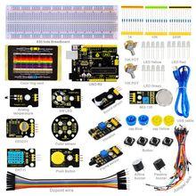 2016 Новинка! Keyestudio Сенсор комплект-K3 для Arduino стартовый набор с Arduino UNO R3 + DHT11 + DS3231 + 3 Вт LED + Цвет Senson/19 проектов