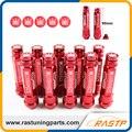 RASTP-M12X1.5 20 Unids 326 Power Racing Aleación de Aluminio Rojo 90 MM Wheel Lug Nut con Tapones Corona LS-LN039