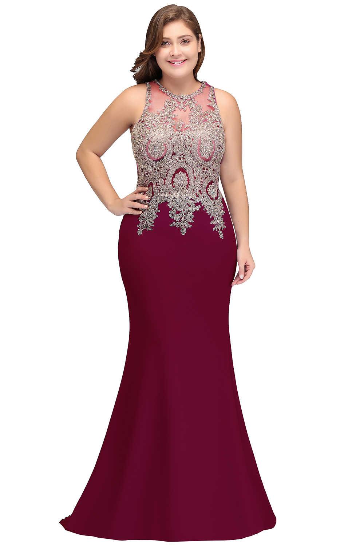 Cheap Long Satin Purple Burgundy Plus size Bridesmaid Dresses 2019 Mermaid  Vestido De Festa De Casamen Formal Party Prom Dresses