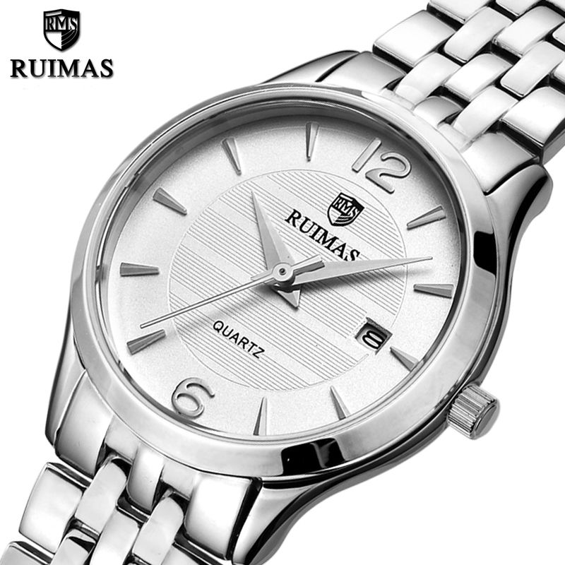 RUIMAS Fashion Quartz Ladies Watch Top Brand Luxury Women Watches Relogio Feminino Girl Wrist Watch with Stainless Steel Strap relogio feminino sinobi watches women fashion leather strap japan quartz wrist watch for women ladies luxury brand wristwatch