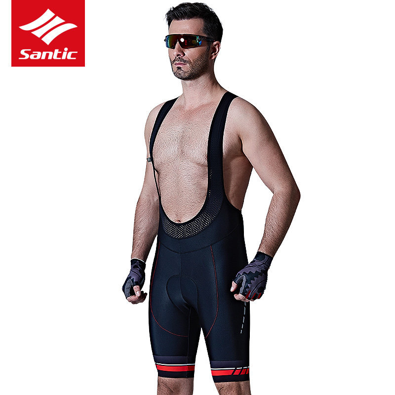 все цены на Santic Men New Cycling Bib Shorts Summer MTB Bike 4D Padded Breathable Mountain Road Cycling Equipment Professional Riding Wear онлайн
