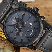 8217 CURREN Top Marke Luxus Herren Uhren Männlich Uhren Datum Sport Military Uhr Lederband Quarz Business Männer Uhr Geschenk
