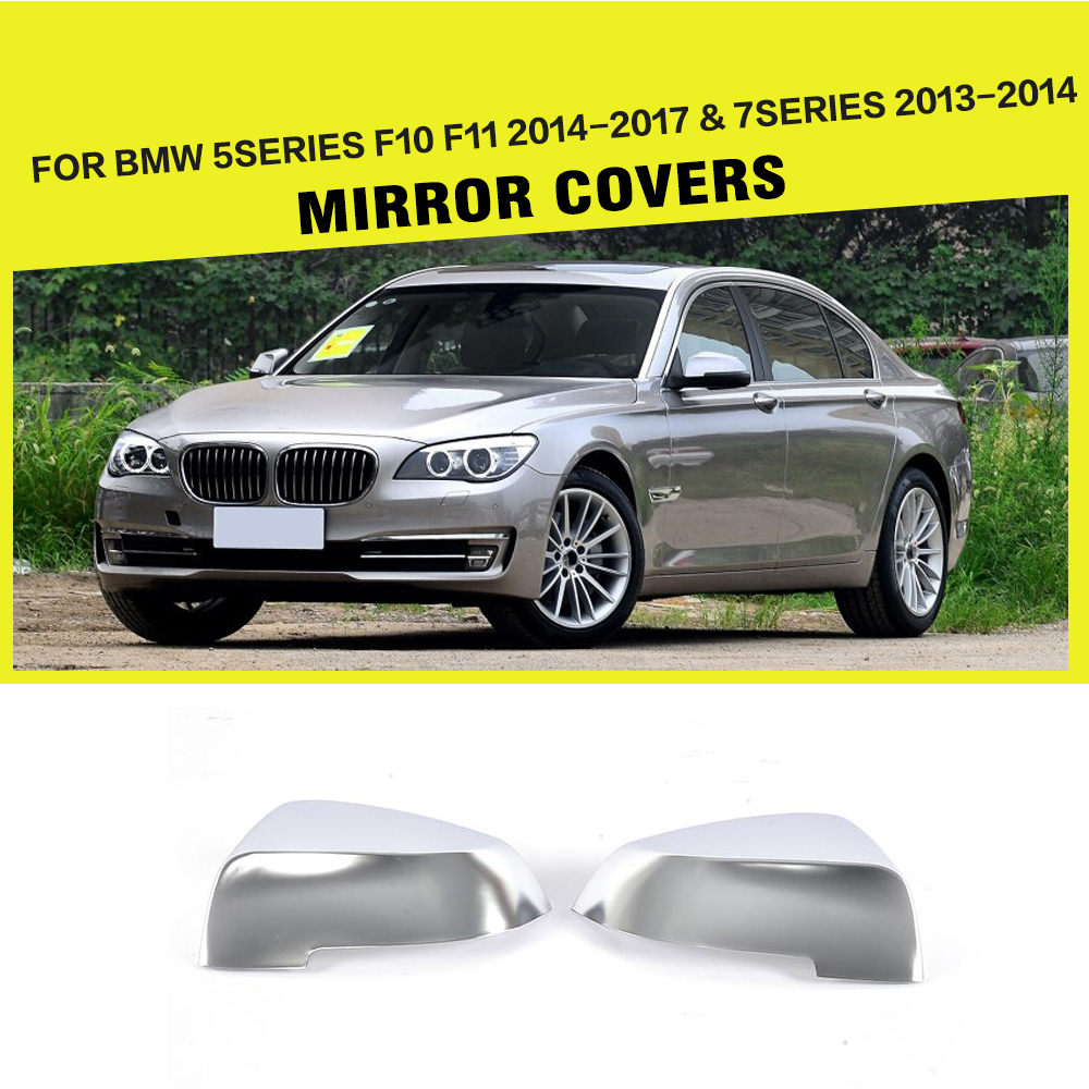 ally chrome ABS replacement Type Side Rearview Mirror Covers For BMW 5 Series F10 F11 2014-2017 & 7 Series 2013-2014 Car Styling replacement car styling carbon fiber abs rear side door mirror cover for bmw 5 series f10 gt f07 lci 2014 523i 528i 535i