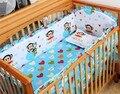 Promotion! 6pcs crib bedding set 100% cotton baby bedding curtain crib newborn bed sheet (bumpers+sheet+pillow cover)