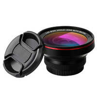 HD Professional Optical Glass Mobile Phone Lens 0.6X 0.45X Super Wide Angle 15X Macro Camera Lenses for iPhone Android Lentes