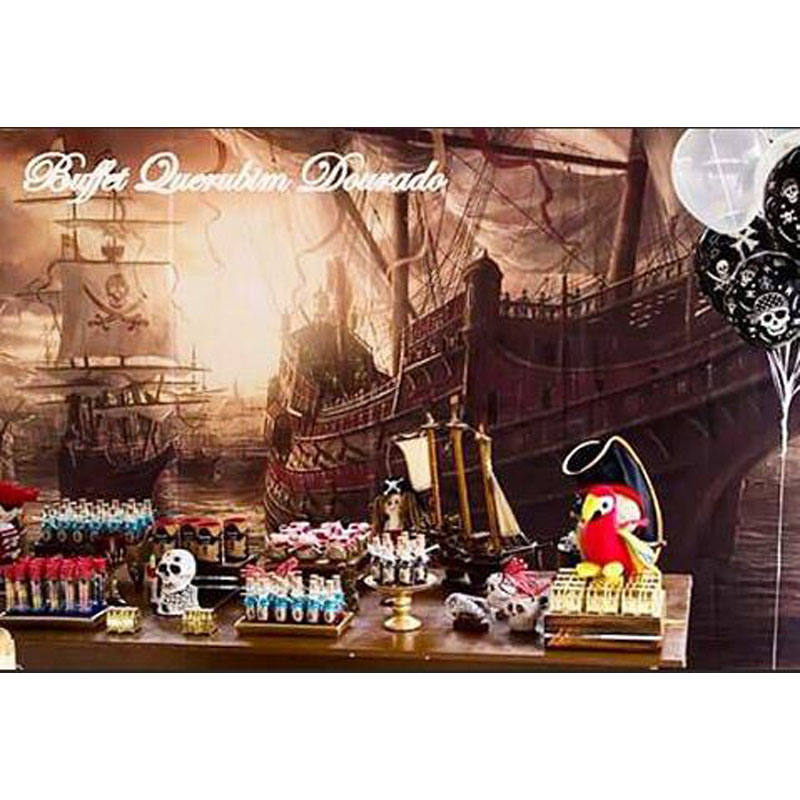 Custom Photography Backdrop Props Pirates of the Caribbean Party Theme Photo Studio Background S-2738 the custom of the country
