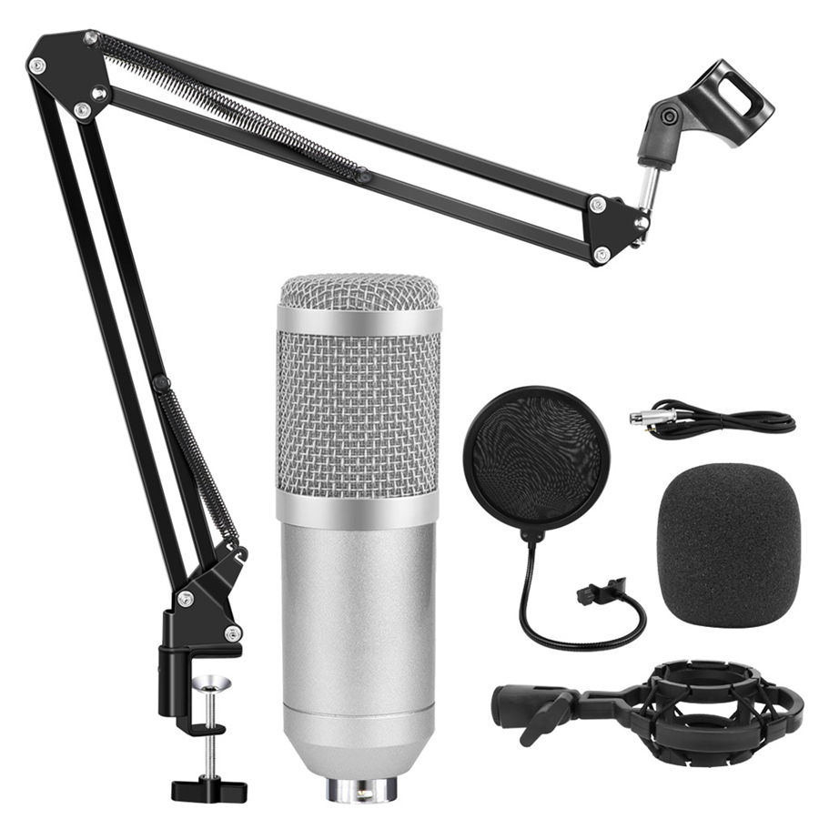 Bm 800 Studio Condenser Microphone Adjustable Bm-800 Microfone for Computer Audio Studio Rrecording karaoke Microphone professional condenser microphone bm 800 bm 800 cardioid pro audio studio vocal recording mic 48v phantom power usb sound card