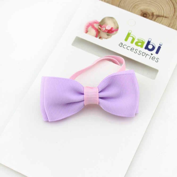 เด็กทารกแถบคาดศีรษะทารก band bows ทารกแรกเกิด tiara headwrap ของขวัญเด็กวัยหัดเดินผ้าพันคอริบบิ้นอุปกรณ์เสริมผมผ้า Headwear