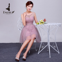 2016 New Arrival Party Dress Short Prom Dresses Pink For Women Elegant Fashion Style Korea Style