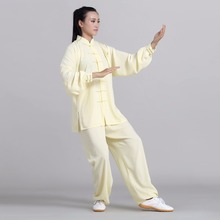 Unisex Taichi suit kung fu uniform martial arts exercise sets wushu Cotton Silk long sleeve wudang Bruce lee Jackie chan Jet li hot sale original jackie chan s first autobiography getting old before growing jackie chan romantic loving story chinese book