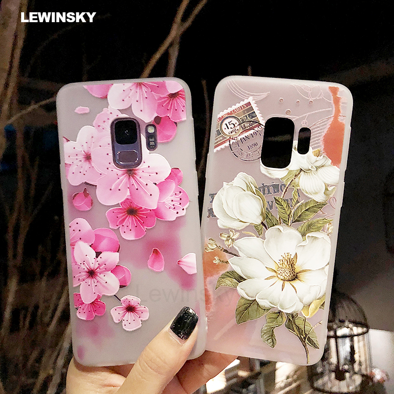 3D Relief Flower TPU Phone Case for Samsung Galaxy A6 A8