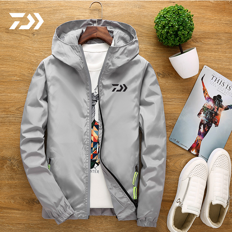 2019 New  Sport Fishing Clothing Spring Autumn Outdoors Fishing Jacket With Hat Waterproof Wearing Clothes Sport Loose Coat Male
