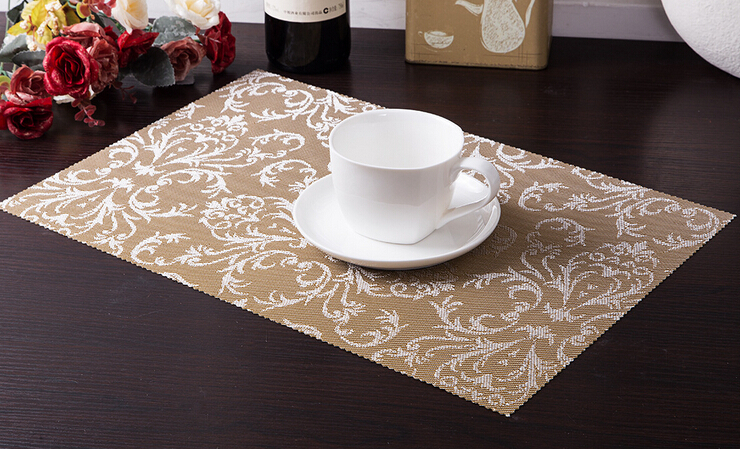 Fashion PVC Insulation Placemat Modern Hotel Restaurant Table Mat Quality Antislip Waterproof Dish Mat Free Shipping