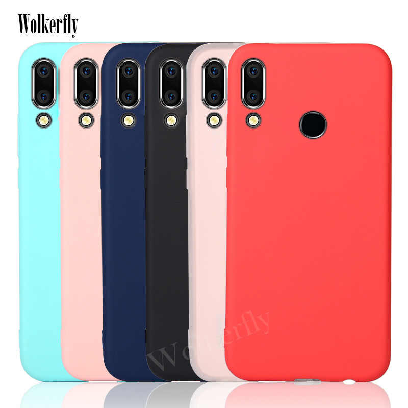 Candy Color silicone case For Huawei Y6 2019 Case Soft TPU Cover For Huawei Y6 2019 Y 6 Pro Prime Y6Pro Y6Prime Y62019 MRD-LX1F