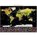 1PCS Travel Scratch Map Gold Foil Travel Map Travel World Scratch Off Foil Layer Coating World Map School Office Supplies