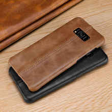 Matte Case For Samsung Galaxy Note 8 9 Genuine Leather Cover Back Ho Coque Fundas Etui