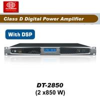 Frete Grátis  DT2850  2x850 W  2 Canais amplificador de potência classe d amplificador dsp power amp power amp class dpower class d -