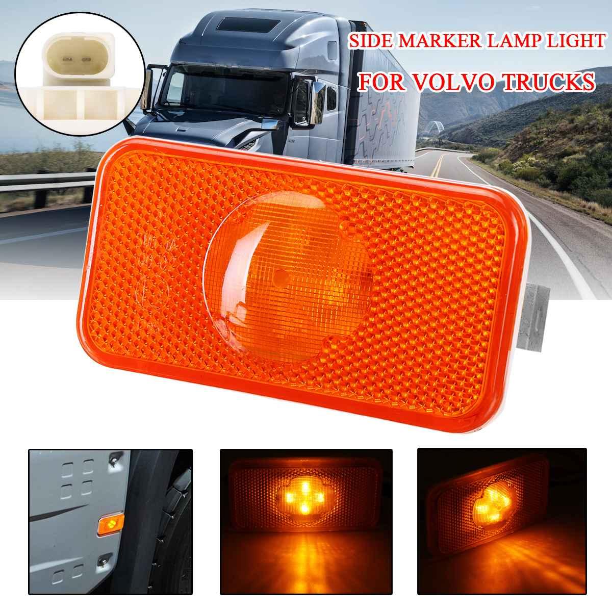 24V Car Truck 4LED Side Marker Light Amber Indicator Lamps For Volvo Trucks Series FH/FM/FL