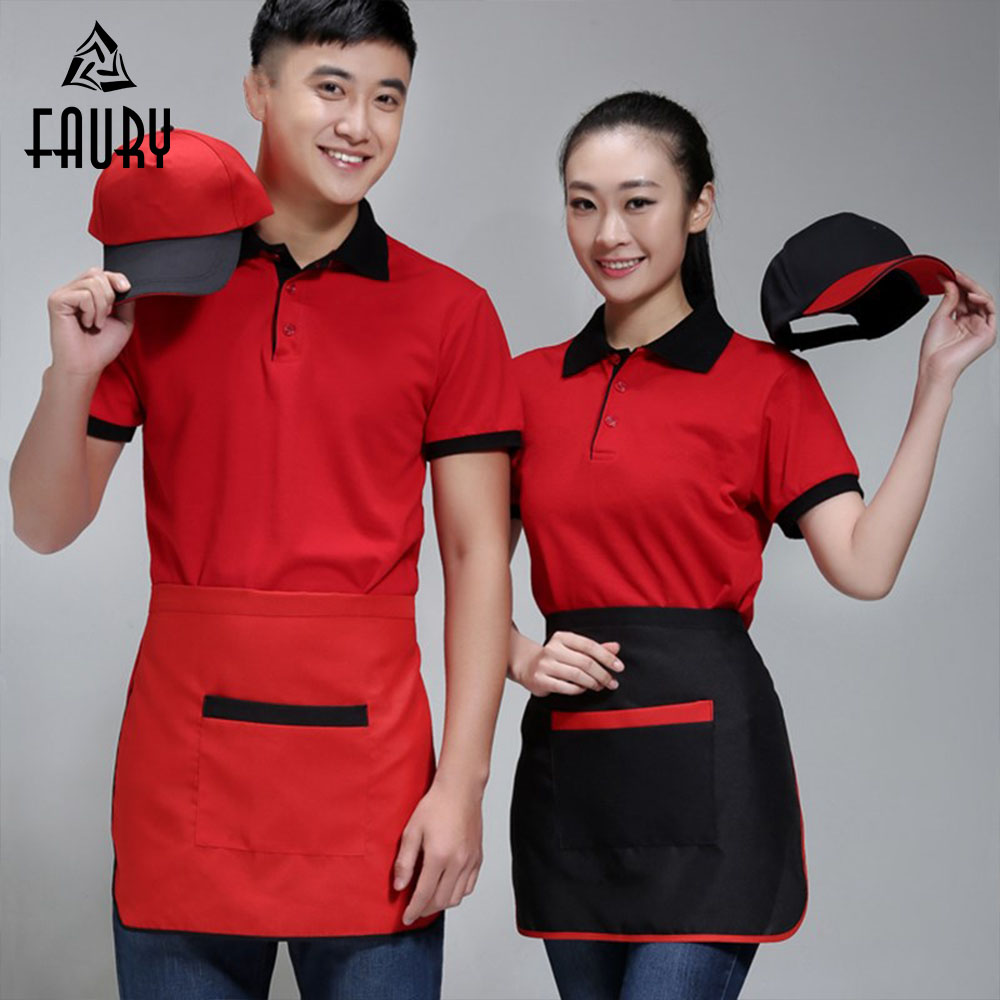 Wholesale Food Service Unisex Chef Waitress Apron Home Kitchen Cooking Cafe Restaurant Waiter Beauty Shop Work Wear Chef Clothes