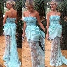 Mermaid Langer Abschlussball Kleidet 2015 Handgemachte Blumen Tulle Spitze Formale Partei-kleid Abendkleider vestido de festa longoo