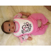 New Style 20 Inch 50 cm Reborn Baby Girl Doll Newborn Princess Babies Lifelike Toy With Magnetic Mouth Kids Birthday Xmas Gift