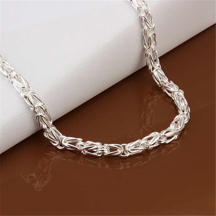 Gratis Pengiriman Populer Indah Fashion Wanita Pria Warna Perak Pesona Retro Kalung Kualitas Perhiasan Cantik N048