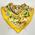 [BYSIFA] marca Sarja De Seda Mulberry Lenços de Seda do Xaile do Lenço Para As Mulheres Venda Quente Senhora Wraps Moda Marrom de Cetim de Seda Cachecol