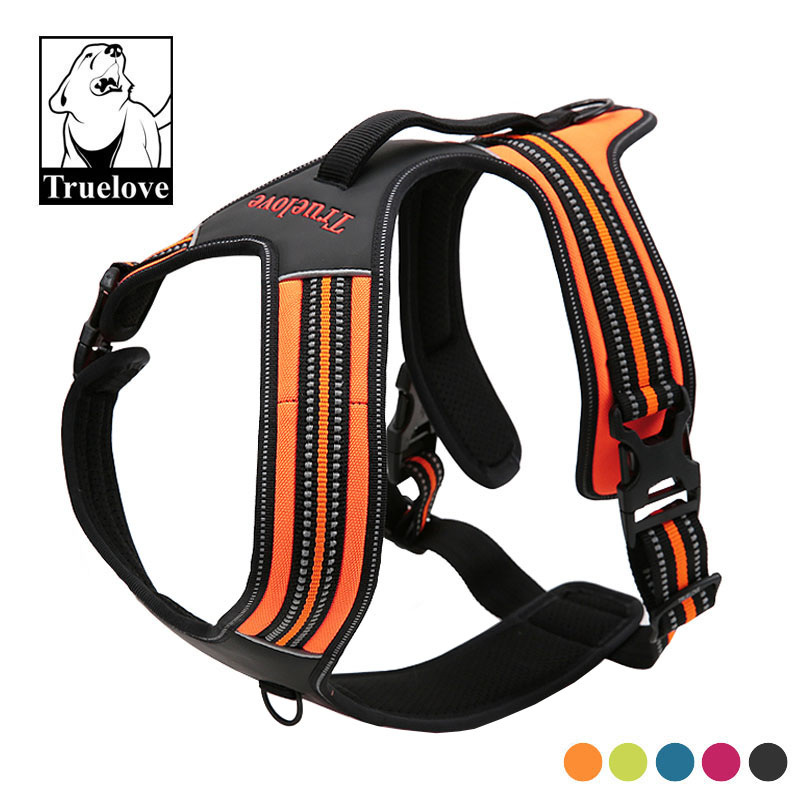 Truelove Sport Nylon Reflective No Pull Dog Harness Outdoor Adventure Pet Vest with Handle XS To XL 5 Colors In Stock