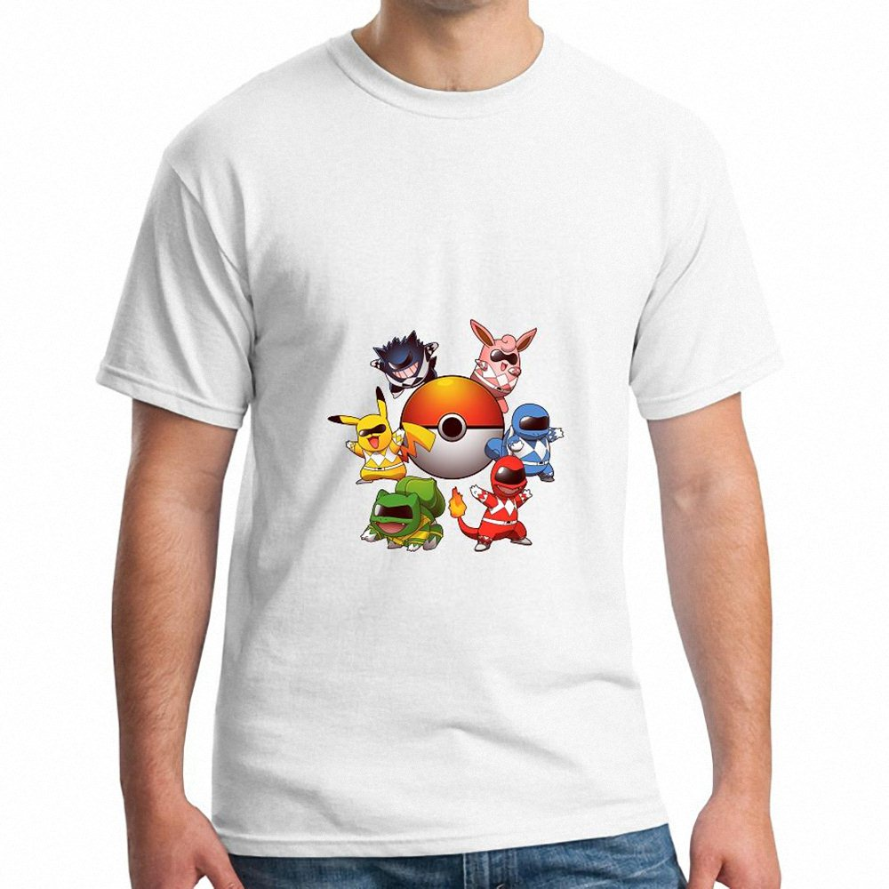 Shirt design brands - Japanese Anime T Shirt Design Printed T Shirt Summer Men S Hot Sale Brand New Fashion Summer Go Go Poke Rangers 2 0