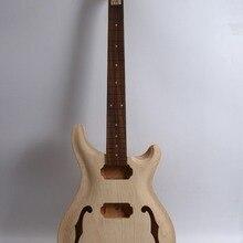1 компл. Электрогитара комплект гитара шеи тела незавершенная гитара красного дерева палисандр 22 лада проект 2