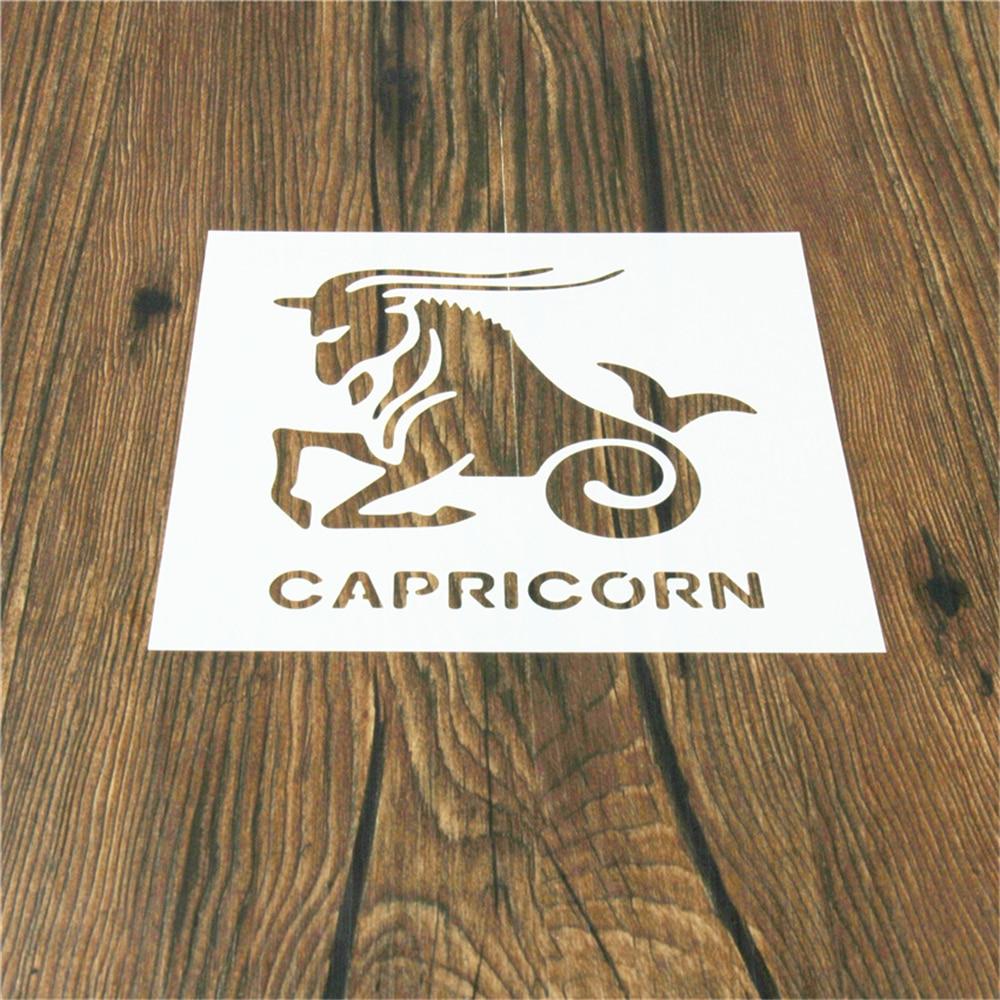 1PC Classic Capricorn Shaped Reusable Stencil Airbrush Painting Art DIY Home Decor Scrap booking Album Crafts(China)