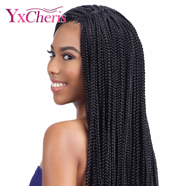 Box Braids 22 Inches Extensions Ombre Pink Purple Kanekalon