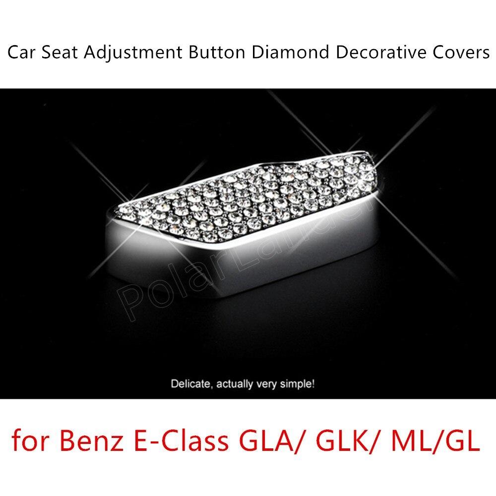 6pcs/set 3 Colors S/eat Adjustment Decoration Internal Diamond Cover For M-ercedes For B-enz E-Class GLA/GLK/ML/GL