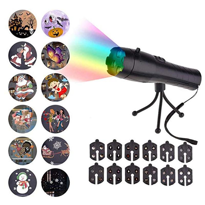 HZFCEW LED Flashlight Animation Lamp Animation Film Projection Lamp Mini Flashlight Portable Lamp FR321