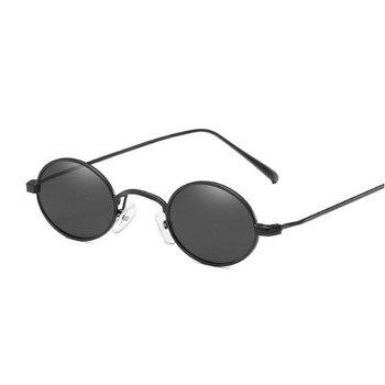 Małe owalne okulary przeciwsłoneczne dla kobiet Retro marka projektant czerwone okulary przeciwsłoneczne męskie małe okrągłe okulary kobiece odcienie punkowe okulary przeciwsłoneczne FML