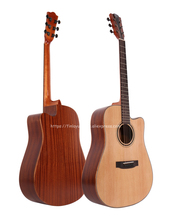 Finlay Cutaway guitar 41 inch acoustic With Solid Spruce top /Mahogany Body + Hard case,chinese guitarras FG-D82CE
