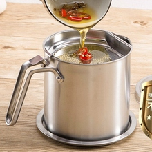 Stainless Steel Leak-proof Oiler stainless steel leakproof oil filter with a tray fried oiler home kitchen supplies