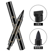 2018 New Sexy Brand Eyeliner Cat Eye Makeup Liquid Pencil Black Seal Double Head Pen Eyeliner Waterproof Wings Shape Cosmetics