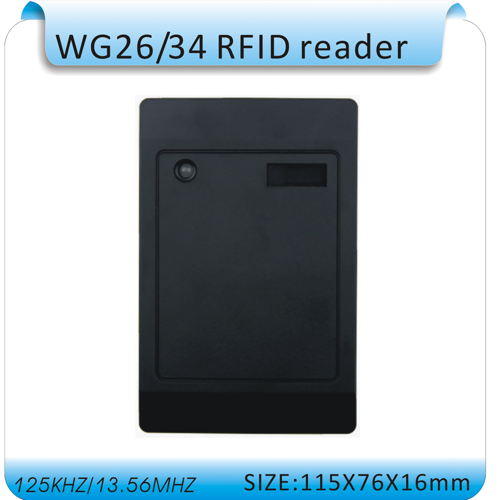 Free shipping WG26/34 port 125KHZ RFID EM card reader for access control system+10pcs RFID cards free shipping waterproof rfid 125khz reader access control system wg26 reader wg26 34 port 10pcs crystal keyfob