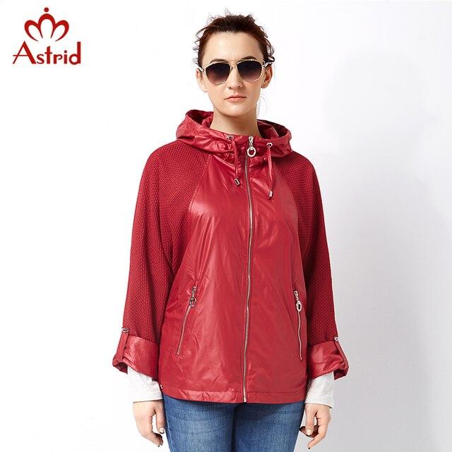 Astrid 2018 women Plus Size Trench Coat pleated Women Windbreaker Spring Autumn Coat short Big Size coat female casual AS-2797