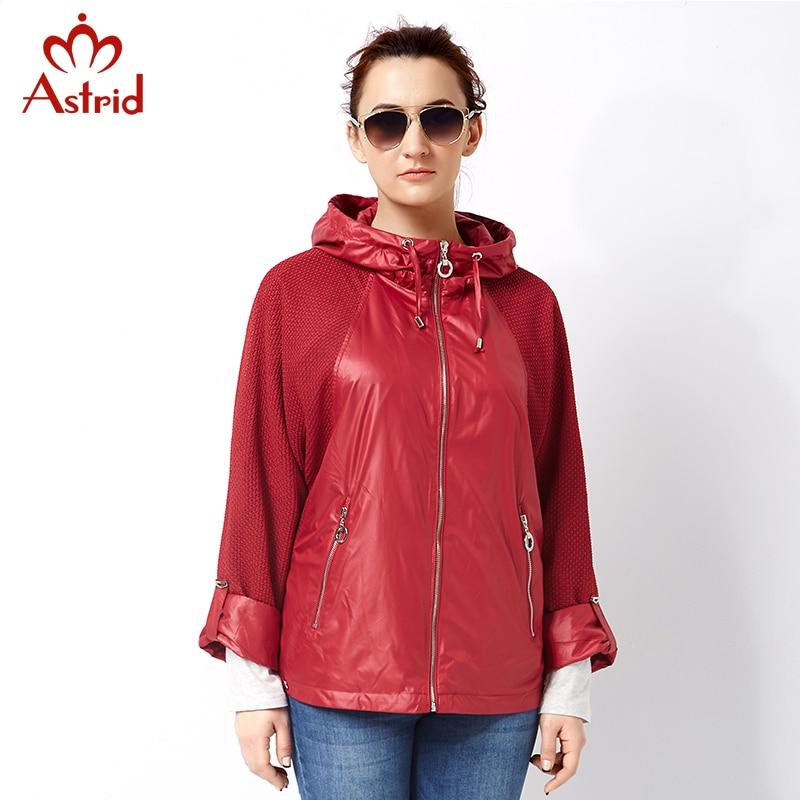 Пальто пальто Astrid 2017 высокого качества для женщин плюс размер Женская ветровка Весна и осень Пальто большого пальто размера AS-2797