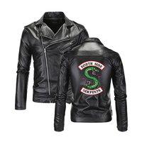 Southside Riverdale Turn down collar Leather Jackets Serpents Men Riverdale Streetwear Leather Brand south side serpents 4XL